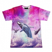 MOQ 1 PCS Colorful Printing Sublimated t shirt, fishing t shirt