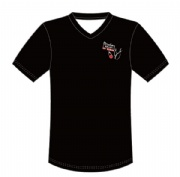 Accept sample order sublimated shirt V-neck t shirt with sublimated by Italy ink